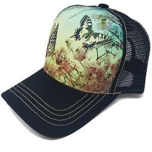 Baseball Hat Women Butterfly Cute Trucker Mesh Cap
